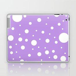 Mixed Polka Dots - White on Light Violet Laptop & iPad Skin