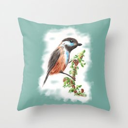 Watercolor Bird Throw Pillow
