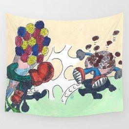 Flowers Versus Chocolate Wall Tapestry