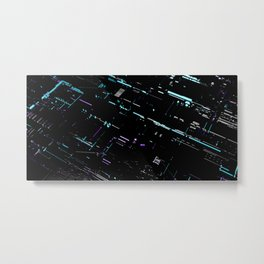 Engineering Technology Industry Background for Electronic Pattern Metal Print