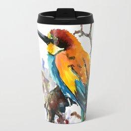 Bee Eater and Apricot Blossom Travel Mug