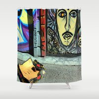 toilet Shower Curtains featuring Toilet Training by oneofacard