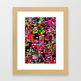 Glitchy itchy 1 Framed Art Print