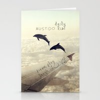 dolphins Stationery Cards featuring Dolphins by Paula Belle Flores