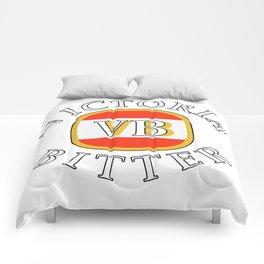victoria bitter white Comforters