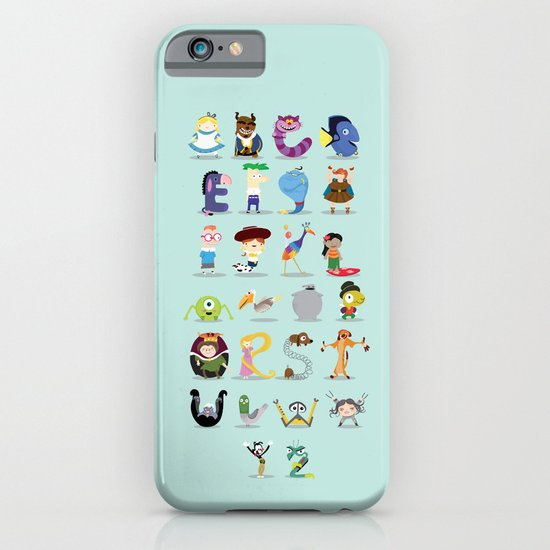 Animated characters abc iPhone & iPod Case