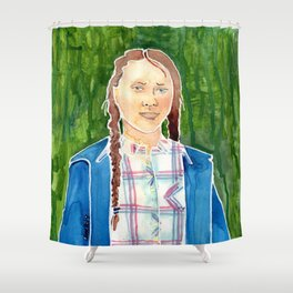 Greta Thunberg Shower Curtain