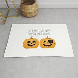 Jack, That's Not What Pumpkin Patch Means... Rug