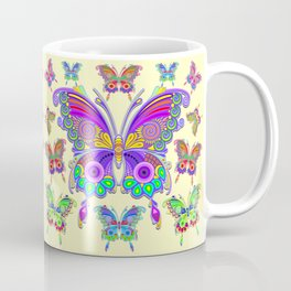 Butterfly Colorful Tattoo Style Pattern Coffee Mug