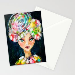 High Society Girl Stationery Cards