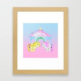 g1 my little pony snuzzle and butterscotch Framed Art Print