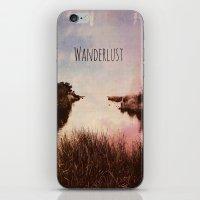 wanderlust iPhone & iPod Skins featuring Wanderlust by Brianne Lanigan