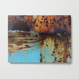 Blue Pipe Metal Print