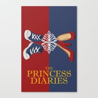 the vampire diaries Canvas Prints featuring Princess Diaries by Jambanana