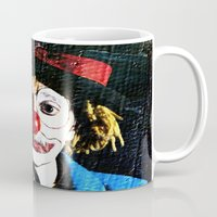 clown Mugs featuring clown by laika in cosmos