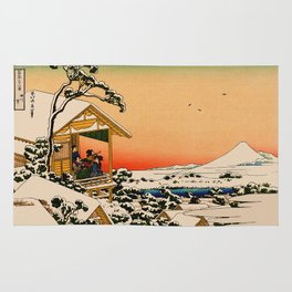 Snow at Koishikawa - Vintage Japanese Art Rug
