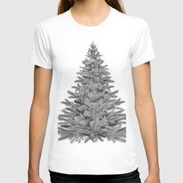 Christmas Tree - Black and White T-shirt