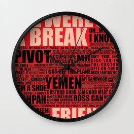 Friends (red) Wall Clock