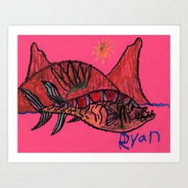 Cretaceous Mawsonia Art Print