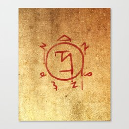Supernatural Angel Banishing Sigil Canvas Print