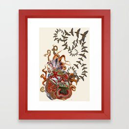 This is what it feels like anatomical heart collage art by bedelgeuse Framed Art Print