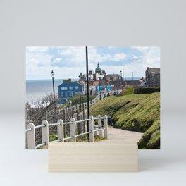 Cromer cliff tops Mini Art Print