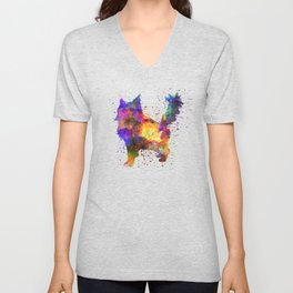 Maine coon  in watercolor Unisex V-Neck