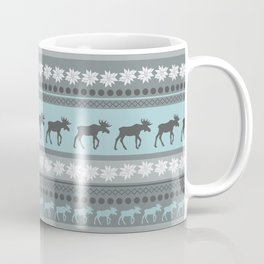 Moose Pattern Coffee Mug