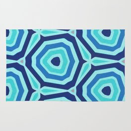 Bet on Blue - Abstract Circles Rug