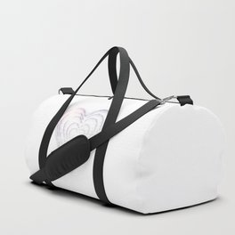 White Snow Heart On A White Background #decor #society6 #buyart Duffle Bag