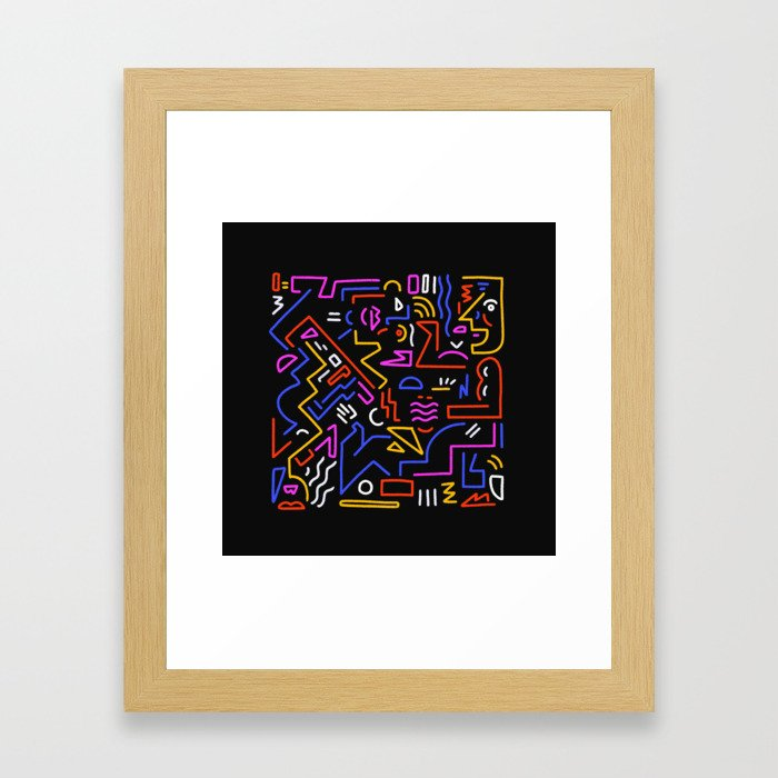 Rock the box Framed Art Print