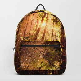 Forest of the Fairies Golden Leaves Backpack