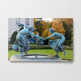 Dancing Nymphs - Den Brandt Castle - Antwerp Metal Print