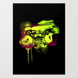 Sound Collage Art Print