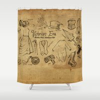 industrial Shower Curtains featuring Industrial Steampunk by Naomi Shingler