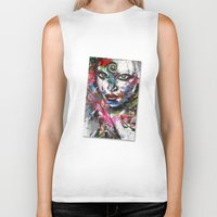 third eye Biker Tanks featuring third eye by yossikotler