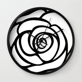 Rose Illustration by Marie-Laurence Monet Wall Clock
