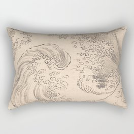 Wave by Katsushika Hokusai 1760–1849, Japanese Rectangular Pillow