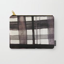 Painterly Plaid Carry-All Pouch