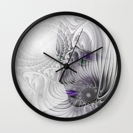 behind the fractal -a- Wall Clock