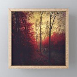 Ruby Red Forest Framed Mini Art Print