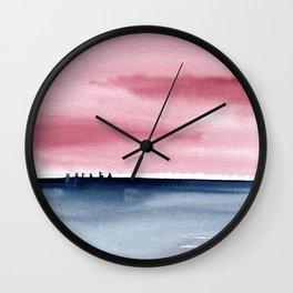 Pink Indigo Abstract No. 3 Wall Clock