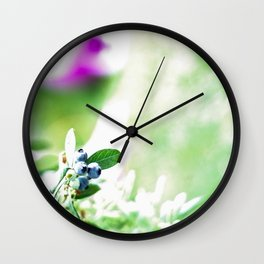 Blueberry Delight Wall Clock