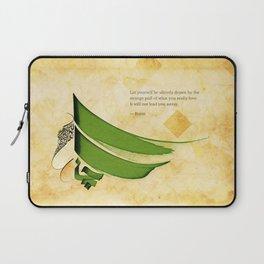 Arabic Calligraphy - Rumi - Strange Pull Laptop Sleeve