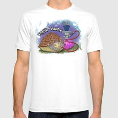 Tokin' Turtle MEDIUM White Mens Fitted Tee