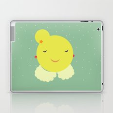 miss sunshine with a collar and snowfall Laptop & iPad Skin