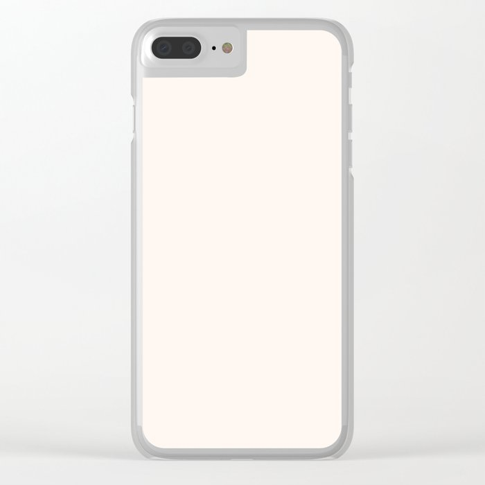Seashell - solid color Clear iPhone Case