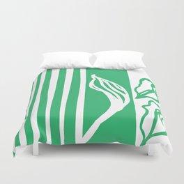 Long Leaf Stripe green Duvet Cover