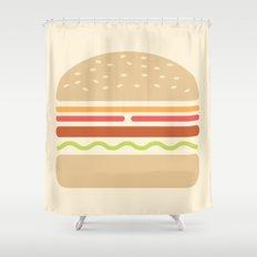 #62 Hamburger Shower Curtain