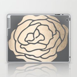 Rose in White Gold Sands on Storm Gray Laptop & iPad Skin
